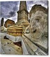 0016 Lions At The Square Canvas Print