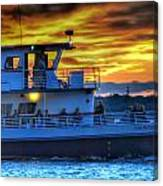 0017 Awe In One Sunset Series At Erie Basin Marina Canvas Print