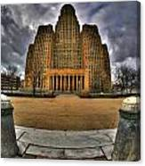 0019 City Hall From Within The Square Canvas Print