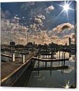 002 Erie Basin Marina D Dock Canvas Print