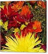 002 Flowers Waiting Canvas Print