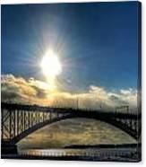 002 Peace Bridge In Passing  Canvas Print