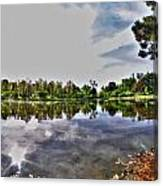 002 Reflecting At Forest Lawn Canvas Print
