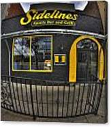 002 Sidelines Sports Bar And Grill Canvas Print