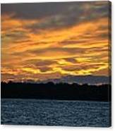 003 Awe In One Sunset Series At Erie Basin Marina Canvas Print