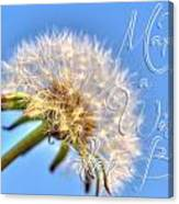 003 Make A Wish With Text Canvas Print