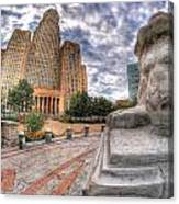 003 Sleeping Lions City Hall View  Canvas Print