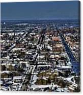 0043 After The Nov 2014 Storm Buffalo Ny Canvas Print