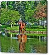 005 Reflecting At Forest Lawn Canvas Print