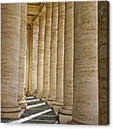0056 Roman Pillars St. Peter's Basilica Rome Canvas Print