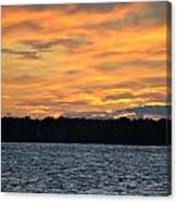 006 Awe In One Sunset Series At Erie Basin Marina Canvas Print