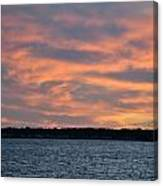 007 Awe In One Sunset Series At Erie Basin Marina Canvas Print