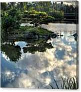 007 Delaware Park Japanese Garden Mirror Lake Series Canvas Print