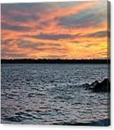 008 Awe In One Sunset Series At Erie Basin Marina Canvas Print