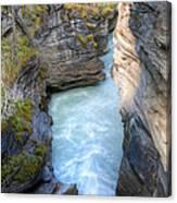 0142 Athabasca River Canyon Canvas Print