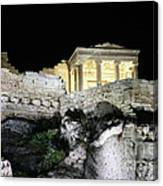 0212 The Acropolis Athens Greece Canvas Print