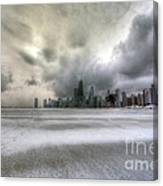 0242 Wintry Chicago Canvas Print