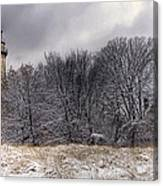 0243 Grosse Point Lighthouse Evanston Illinois Canvas Print
