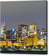0247 Chicago Skyline Panoramic Canvas Print
