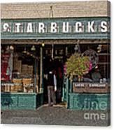 0370 First Starbucks Canvas Print