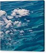 0458 Above The Caribbean Canvas Print