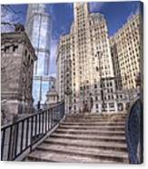 0499 Trump Tower And Wrigley Building Chicago Canvas Print