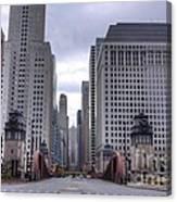 0500 Lasalle Street Bridge Chicago Canvas Print