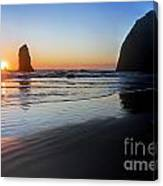 0519 Cannon Beach Sunset 3 Canvas Print
