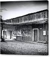 0706 Jerome Ghost Town Black And White Canvas Print