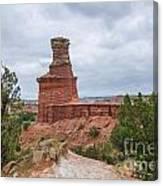 07.30.14 Palo Duro Canyon - Lighthouse Trail 62e Canvas Print
