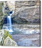 0940 Cascade Falls - Matthiessen State Park Canvas Print