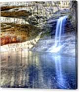 0943 Cascade Falls - Matthiessen State Park Canvas Print
