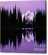 Glacier Peak  In Image Lake Canvas Print