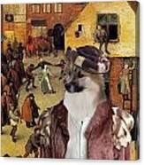 Icelandic Sheepdog Art Canvas Print  Canvas Print