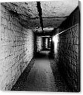 Image Of The Catacomb Tunnels In Paris France Canvas Print
