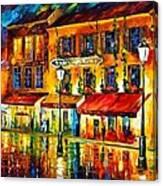 Paris Night Montmartre Canvas Print