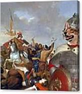 Swedish Vallhund  - Vastgotaspets Art Canvas Print Canvas Print