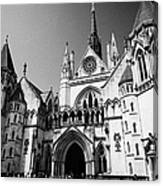 The Royal Courts Of Justice London England Uk Canvas Print