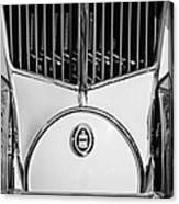 1930 Cord L-29 Speedster Grille Emblem Canvas Print