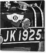 1931 Bentley 4.5 Liter Supercharged Le Mans Taillight Emblem Canvas Print