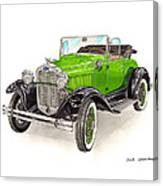 1931 Ford Model A Roadster Canvas Print