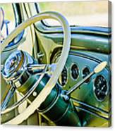 1933 Pontiac Steering Wheel -0463c Canvas Print
