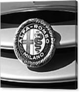 1934 Alfa Romeo 8c Zagato Emblem Canvas Print