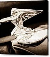 1935 Packard Hood Ornament - Goddess Of Speed Canvas Print