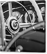 1936 Mercedes-benz 540 Special Roadster Steering Wheel Canvas Print