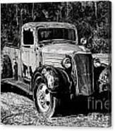 1937 Chevy Wrecker Canvas Print