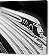 1937 Pontiac Chief Custom Hood Ornament Canvas Print