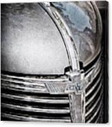 1938 Chevrolet Hood Ornament - Emblem Canvas Print