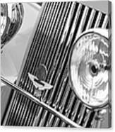 1939 Aston Martin 15-98 Abbey Coachworks Swb Sports Grille Emblems Canvas Print