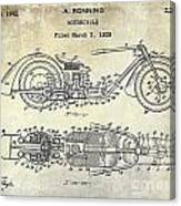 1939 Motorcycle Patent Drawing Canvas Print